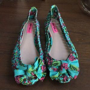 Betsy Johnson Snappi Braided Ballet Flats Size 8